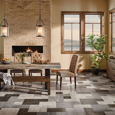 Grain Directions Engineered Tile - Tobacco Etch